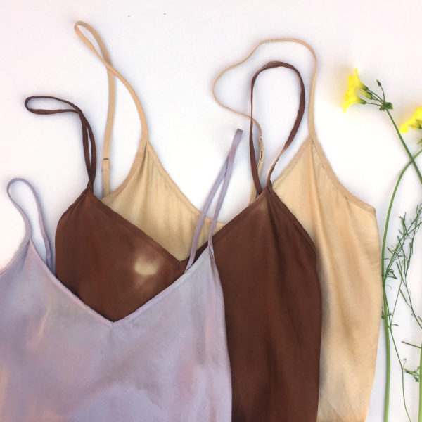 naturally dyed silk